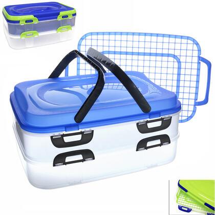 Plastový přenosný box na potraviny 2 patra
