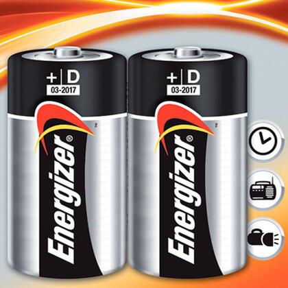 Alkalické baterie Energizer 2x D