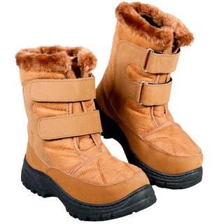 Zimní boty s hřejivým beránkem hnědé