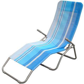 Polohovatelné plážové lehátko modré, Happy Green