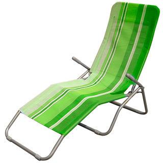 Polohovatelné plážové lehátko zelené, Happy Green