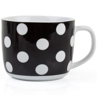 Polévkový hrnek 730 ml černý s puntíky, BANQUET
