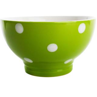 Keramická miska 13 cm zelená s puntíky, BANQUET