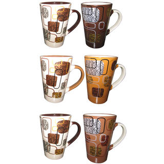 Keramické hrnky 310 ml Coffee assorted 2 ks, BANQUET