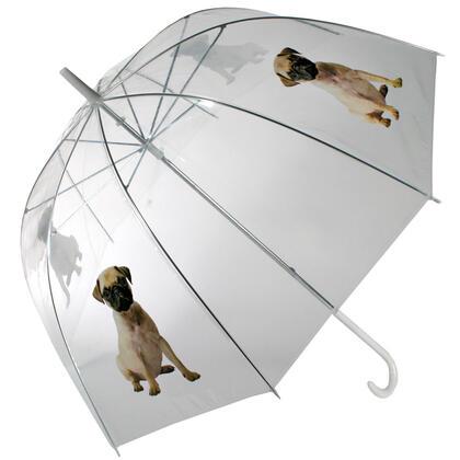 Dámský deštník průhledný Mopsík