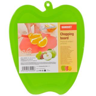 Plastové krájecí prkénko zelené jablko, BANQUET