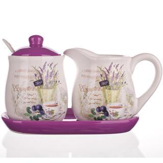 Keramická mléčenka a cukřenka Lavender, BANQUET