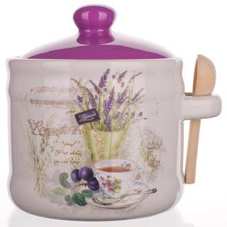 Keramická dóza se lžičkou  BANQUET Lavender