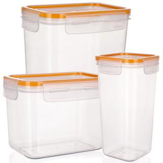 Plastová dóza na potraviny Super Click oranžová, BANQUET