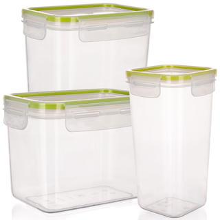 Plastová dóza na potraviny Super Click zelená, BANQUET