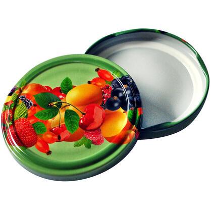 Šroubovací víčka na zavařovací sklenice 10 ks ovoce