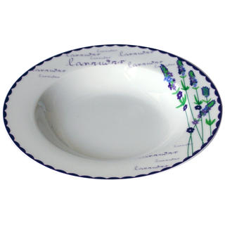 Keramický hluboký talíř Levandule 21,5 cm