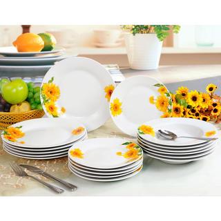 Porcelánová sada talířů SUNNY 18 dílů, BANQUET
