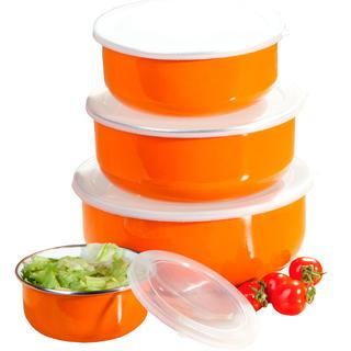 Smaltované misky BELLY, BANQUET oranžové 8 dílů