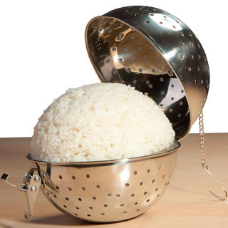 Nerezová koule na vaření rýže