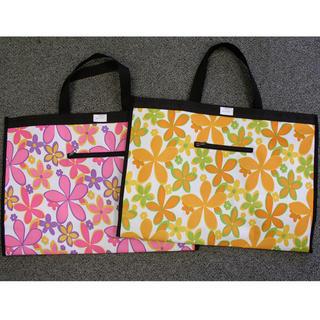 Skládací nákupní taška velká - květy