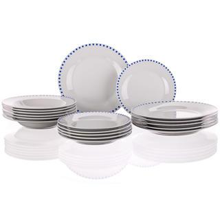 Porcelánová talířová sada Cubito Blue 18 dílů, BANQUET
