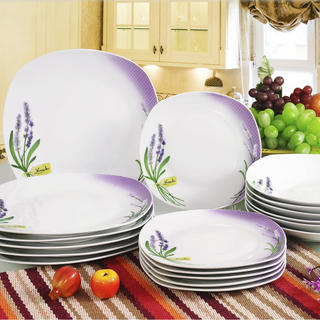 Banquet Porcelánová sada talířů LEVANDULE 18 ks
