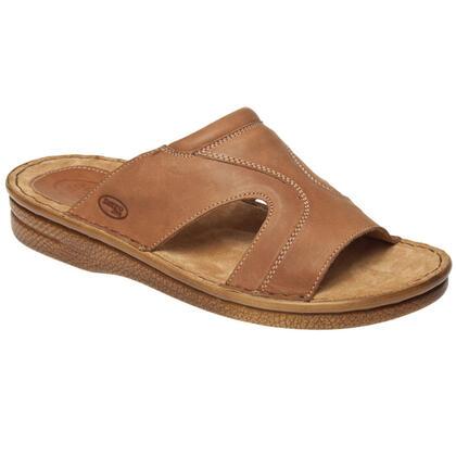Pánské pantofle světle hnědé