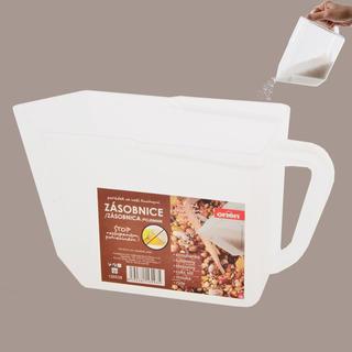 Plastový zásobník na potraviny mléčný