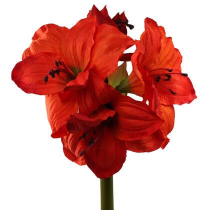 Umělá květina Amarylis oranžová