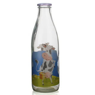 Skleněná láhev na mléko 1l D6, BANQUET