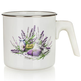 Smaltovaný mlékovar BANQUET Lavender 1,2 l