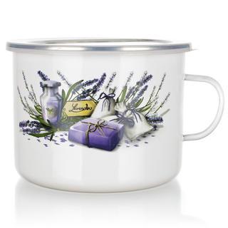 Smaltovaný hrnek s víčkem Lavender, BANQUET
