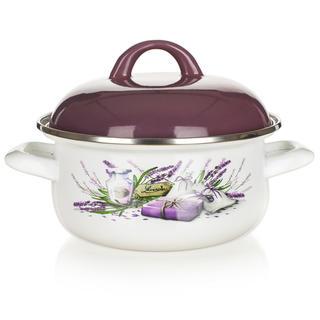Smaltovaný kastrol  BANQUET Lavender