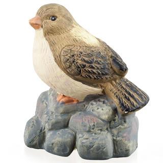 Zahradní dekorace - pták na kameni