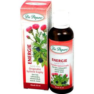Bylinné kapky Enegie 50 ml, Dr. Popov
