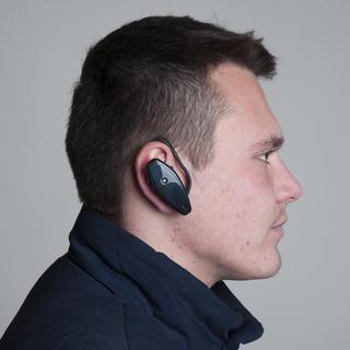 Naslouchátko za ucho černé