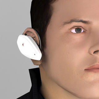 Naslouchátko za ucho stříbrné