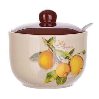 Keramická cukřenka se lžičkou Lemon, BANQUET
