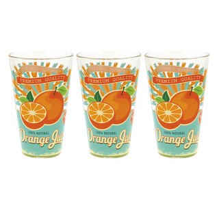 Vysoké sklenice 310 ml Pomeranč 3 ks