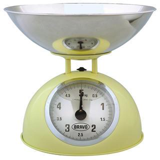 Mechanická kuchyňská váha BRAVO žlutá