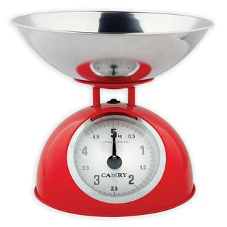 Mechanická kuchyňská váha červená