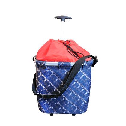 Nákupní taška na kolečkách s madlem