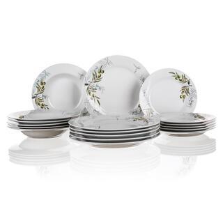 Porcelánová sada talířů OLIVES 18 dílů, BANQUET