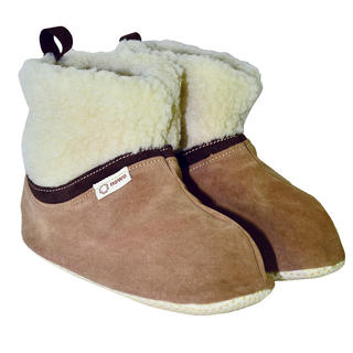 Domácí obuv z ovčího rouna