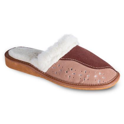 Dámská domácí obuv s koženým svrškem