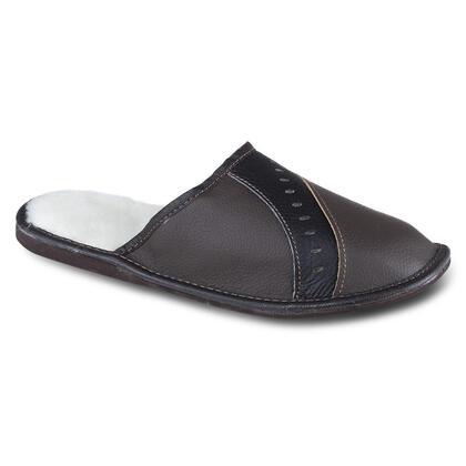 Pánská domácí obuv kožená černá