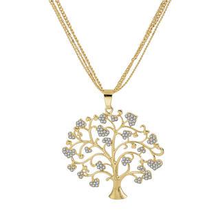 Zlatý náhrdelník s přívěskem ve tvaru stromu