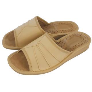 Dámské domácí pantofle béžové