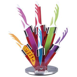 Keramické nože ve stojanu barevné 8 kusů