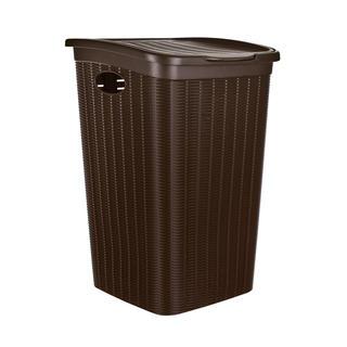 Plastový prádelní koš tmavě hnědý 50 l RATTAN