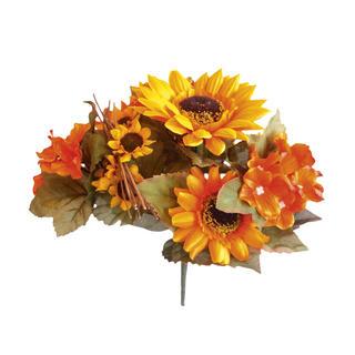 Umělá kytice - Slunečnice a Hortenzie