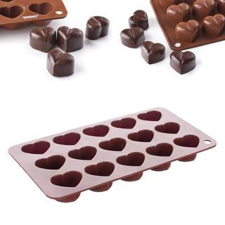 Silikonová forma na čokoládu Srdíčka, BANQUET