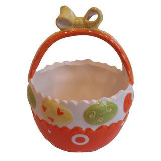 Keramický velikonoční košíček dekorovaný