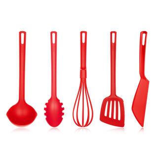 Kuchyňské náčiní Culinaria, BANQUET 5 kusů červená
